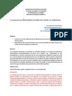 Determinación Espectrofotometrica de Hierro Con El Quelón 1,10 Fenantrolina