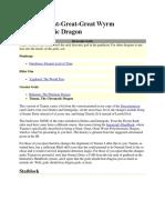 Tiamat, Great-Great-Great Wyrm Polychromatic Dragon [d20 NPCs]