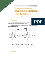 Reacciones Quimicas Del Benceno