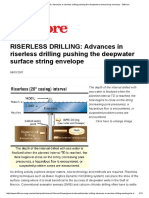RISERLESS DRILLING_ Advances in Riserless Drilling Pushing the Deepwater Surface String Envelope - Offshore