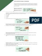 Cómo Convertir de Decimal a Hexadecimal