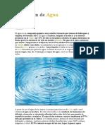 Definición de Agua