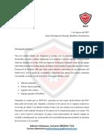 Carta de Patrocinio 2018