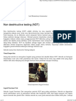 Non Destrtructive Testing (NDT)