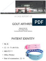 case report of Gout Arthritis