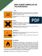 (491698267) 81769318 Simbolos de Peligrosidad de Laboratorio de Quimica Organica ESPOL