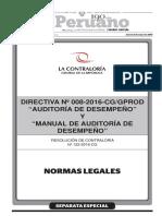 Aud de Desempeño. o de Gestion Directiva n 008 2016