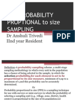 Pps-probability Proptional Sampling