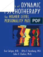Handbook of Dynamic Psychotherapy for Higher Level Personality Pathology