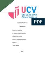 Anamnesis Psicopatologia II