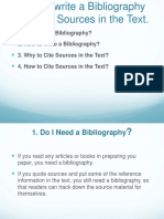 How to Write a Bibliography and Cite Sources