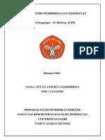 Intan Anferta Massebrina G1A114103 Tugas Ragam Metode Pemberdayaan Kesehatan