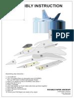 Flying Paper f22 Raptor