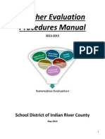 2013-2015 Teacher Evaluation Procedures Manual-May-2014