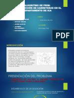 Ppt-Algoritmo de Prim en La Construccion de Carreteras