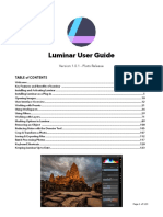 Luminar Pluto User Manual Final