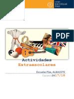 CATÁLOGO EXTRAESCOLARES CURSO 2017-2018