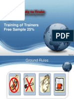 TOT - Training of Trainers Free Sample Training Slides Materials for trainers