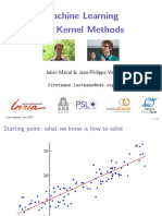 """""""Machine Learning With Kernel Methods"""""""