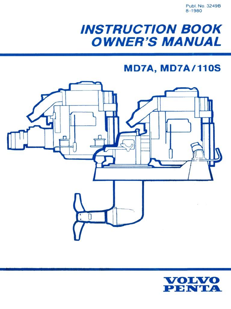 volvo md7a brukermanual engelsk pdf rh es scribd com Volvo MD7A Fore Sale volvo penta md7a wiring diagram