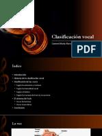 Clasificación Vocal