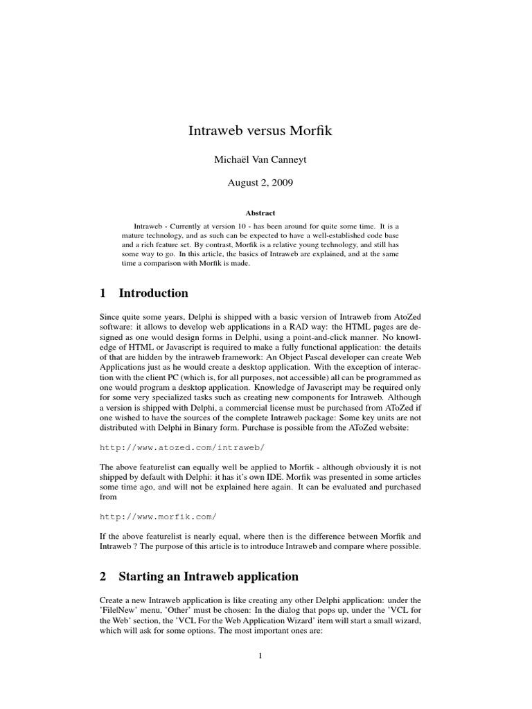 intraweb pdf | Java Script | Html
