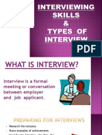 Interviewing Skills n Interview Types Final