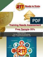 Training Needs Assessment TNA Free Sample