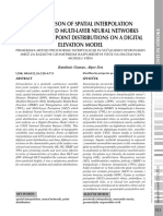 COMPARISON OF SPATIAL INTERPOLATION METHODS AND MULTI-LAYER NEURAL NETWORKS  FOR DIFFERENT POINT DISTRIBUTIONS ON A DIGITAL ELEVATION MODEL