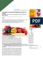 6 Unhealthy Diet Habits That Diabetics Assume Are Healthy _ Read Health Arti