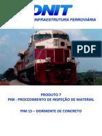 PIM 015 - Dormente Monobloco de Concreto Protendido