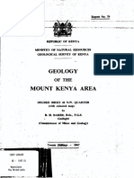 Mt Kenya Geology