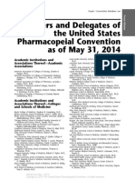 Front Matter - Members and Delegates of the United States Pharmacopeial Convention