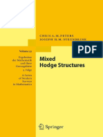 [Chris a.M. Peters, Joseph H. M. Steenbrink] Mixed Hodge Structures