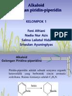 PPT KELOMPOK 1 - Alkaloid (Golongan Piridin-piperidin)