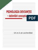 C1 Psih_ Deviantei Delimitari Conceptuale