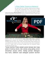 Varian Games Poker Online Terpercaya Indonesia