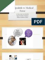 Malpraktik vs Medical Error