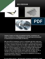 Molybdenum sheets, Molybdenum rods