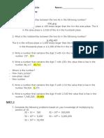 place value unit study guide 2017