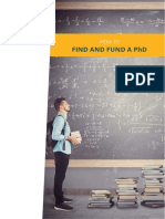 How to Find and Fund a Phd