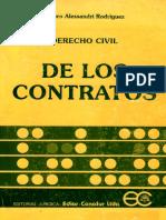 Alessandri Rodriguez Arturo - De Los Contratos Chile