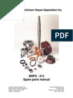 AlfaLaval PX 313 parts manual
