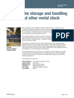 Safety in the Storage and Handling of Steel and Other Metal Stock