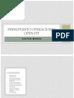 Presupuesto Operaciones Open Pit_Final_2016