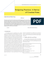 Capital Budgeting Practices- A Survey of Croatian Firms