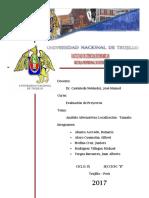 Informe - Análisis de Alternativas - E. Proyectos
