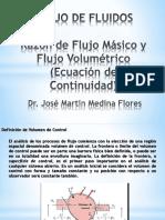 Modulo Dos_razon de Flujo Masico y Volumetrico