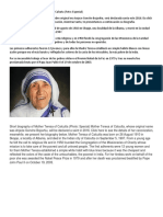 Biografía Corta de La Madre Teresa de Calcuta