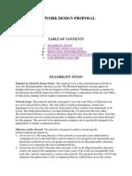 Network Design Proposal